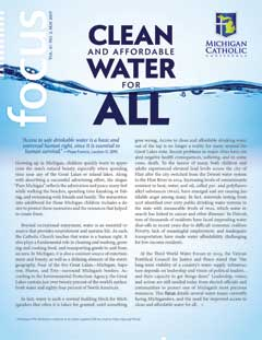 Front cover of MCC's May 2019 issue of Focus, entitled 'Clean and Affordable Water for All'