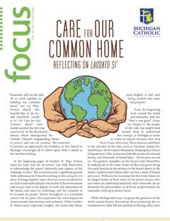 Front cover of MCC's June 2020 issue of Focus, entitled 'Care for Our Common Home: Relflecting on Laudato Si'