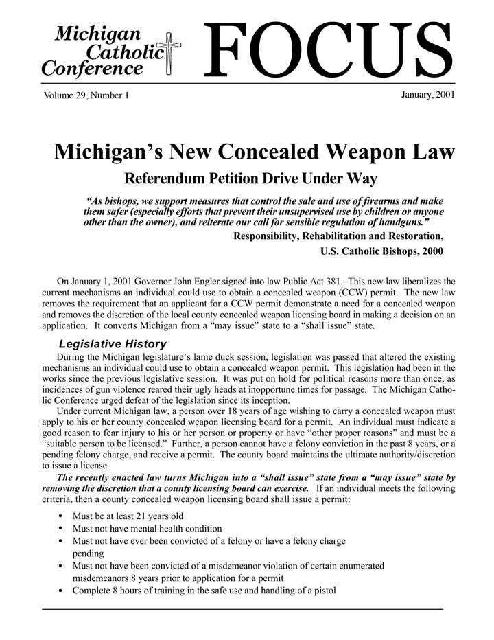 persuasive essay on concealed weapons laws Impact of concealed carry weapon laws on crime rates name which means that concealed weapons permits are not issued in that state (cleary, 1999.