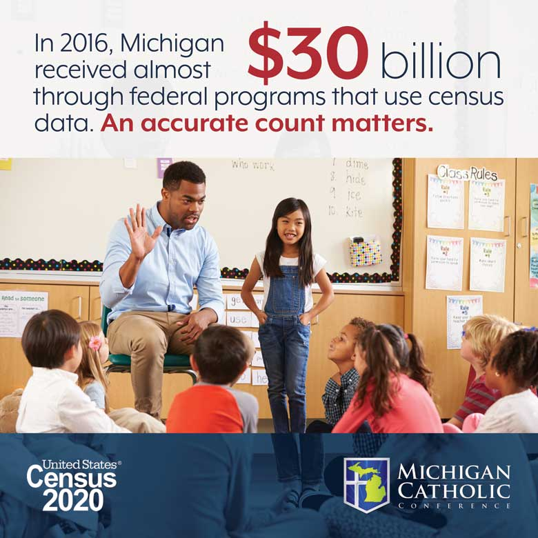 In 2016, Michigan received almost $30 billion through federal programs that use census data. An accurate count matters.