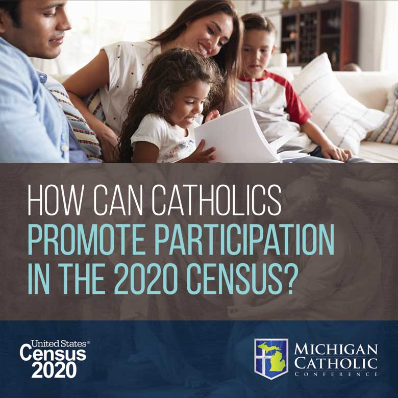 How can Catholics promote participation in the 2020 Census?