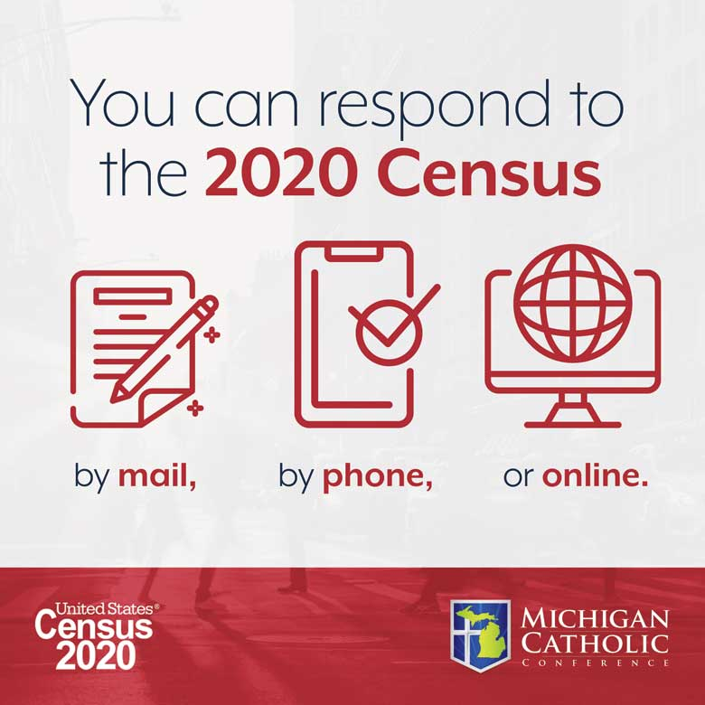 You can respond to the 2020 Census by mail, by phone, or online.