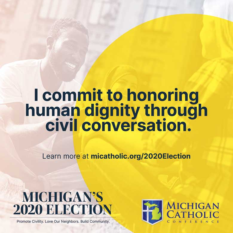 I commit to honoring human dignity through civil conversation.