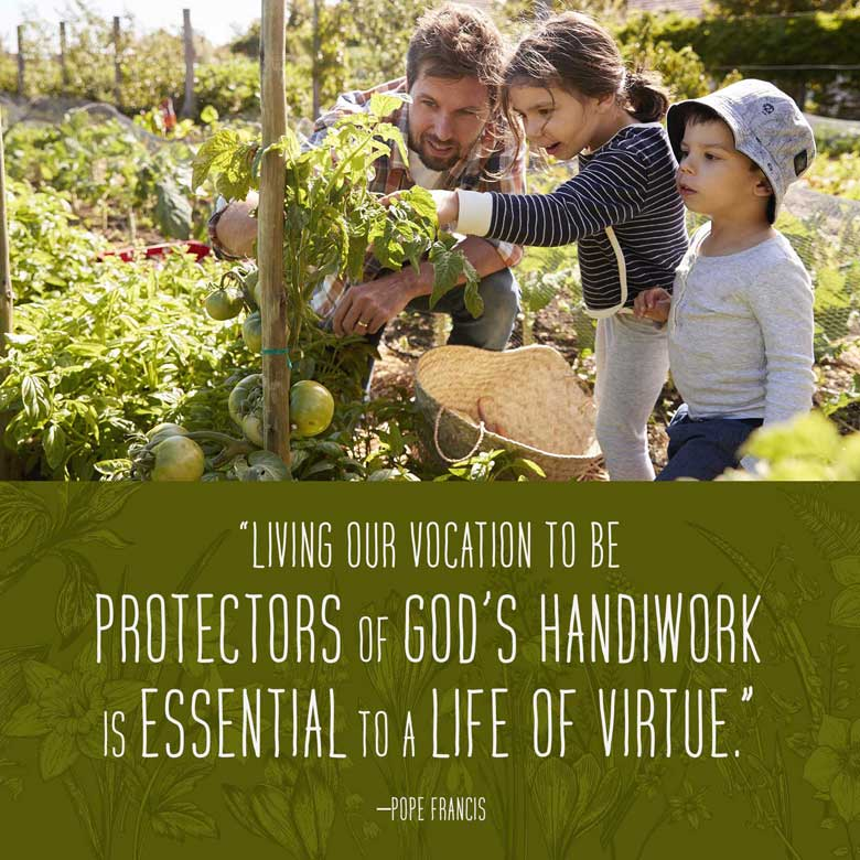 Living our vocation to be protectors of God's handiwork is essential to a life of virtue. —Pope Francis