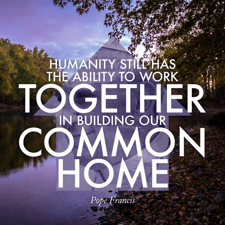 Humanity still has the ability to work together in building our common home. —Pope Francis