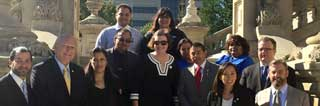 Advocates of legislation to grant undocumented persons driver's licenses gather on the steps of the State Capitol Tuesday, September 20, 2016
