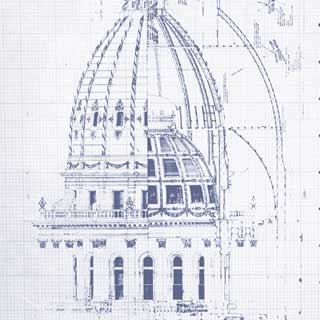 Blueprint of the Michigan Capitol