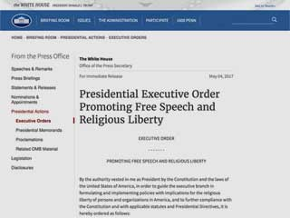 Screenshot of Presidential Executive Order from Whitehouse.gov