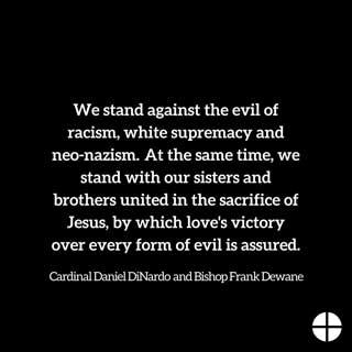 Statement from Cardinal Daniel DiNardo and Bishop Frank Dewane