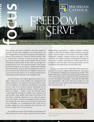 Cover of the September 2017 issue of FOCUS: Freedom to Serve