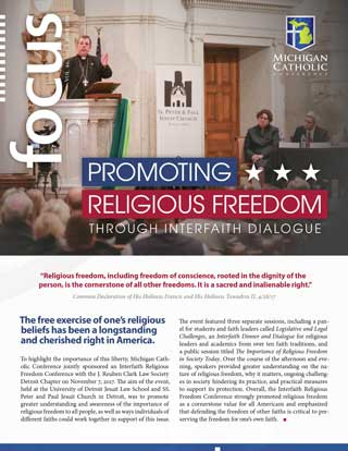 Front cover of FOCUS: Promoting Religious Freedom Through Interfaith Dialogue
