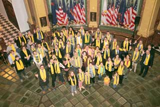Students, parents, educators, education advocates, and lawmakers celebrate National School Choice Week at the State Capitol in Lansing
