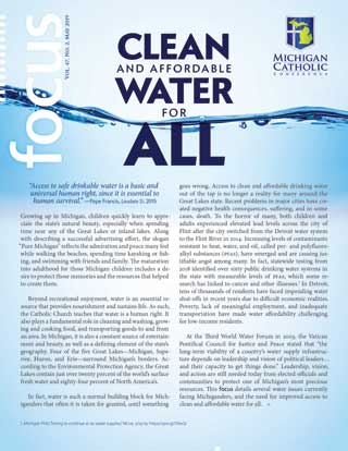Front cover of FOCUS for May 2019: Clean and Affordable Water for All