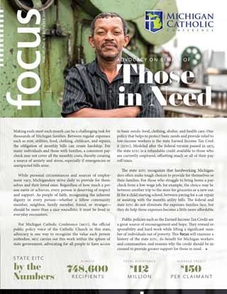 """Front cover of FOCUS essay """"Advocacy on Behalf of Those in Need"""""""