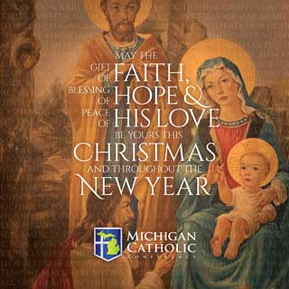May the gift of faith, blessing of hope & peace of His love be yours this Christmas and throught the New Year