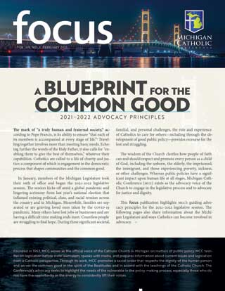 """Front cover of MCC's Focus publication, """"A Blueprint for the Common Good"""""""