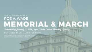 Join us for Michigan's Roe v. Wade Memorial and March on Wednesday, January 27, 2021 at 1pm at the State Capitol Building in Lansing