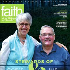 Front cover of the July/August 2018 issue of Faith Magazine: Diocese of Gaylord