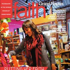 Front cover of the December 2015 issue of Faith Magazine: Grand Rapids