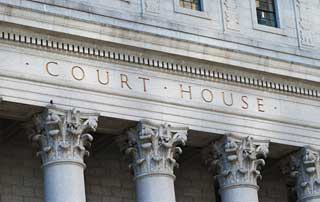 A court house facade