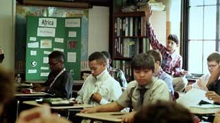 Children participating in classroom activities