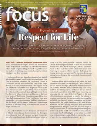 Cover of FOCUS: Promoting a Respect for Life