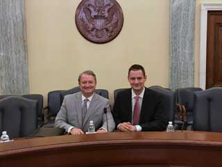 MCC Policy Advocate Paul Stankewitz and Archdiocese of Detroit Superintendent Kevin Kijewski meet with U.S. Congressional leaders in Washington, D.C.