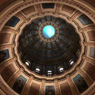 The interior of the dome at the Michigan State Capitol building