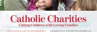 Front page of MCC's Focus Essay for August 2019: Catholic Charities—Uniting Children with Loving Families