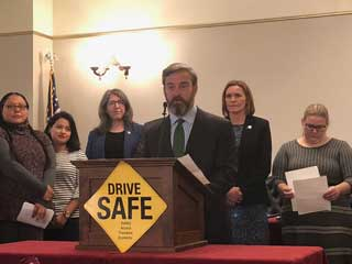 MCC Vice President for Public Policy and Advocacy Tom Hickson speaks at a press conference held at the State Capitol on Thursday