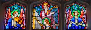 Stained glass from St. Basil Church, South Haven, Michigan